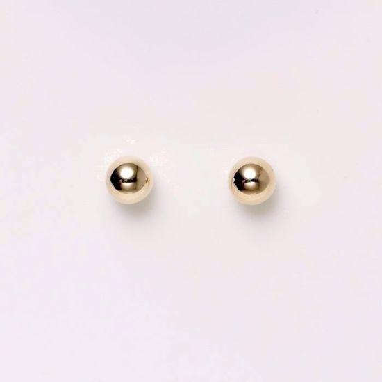 5383/4/14-guld-kugle-ørestik-4mm