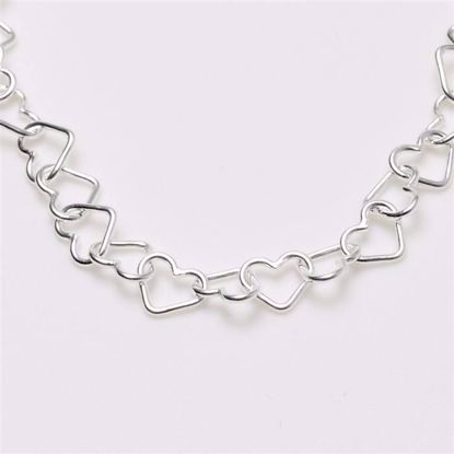 8766-sølv-børne-hjerte-armbånd