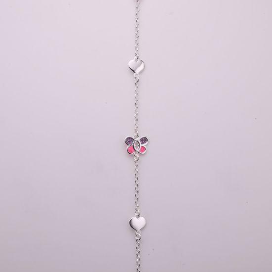 8909-sølv-børne-armbånd-sommerfugl
