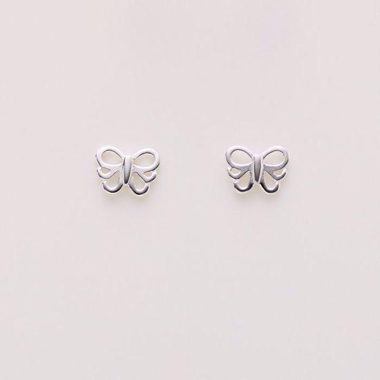 1823/1-sølv-børne-øreringe-sommerfugl