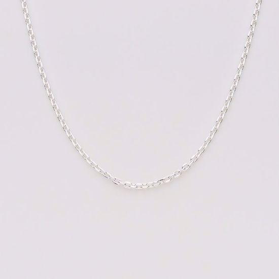 Anker facet kæde i sølv 0,50 tråd