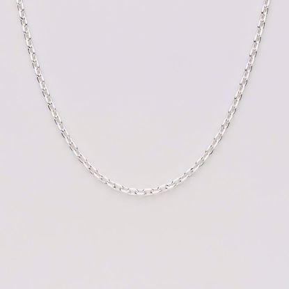 Anker facet sølv kæde