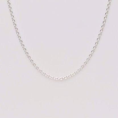Anker 0,50 tråd sølv kæde