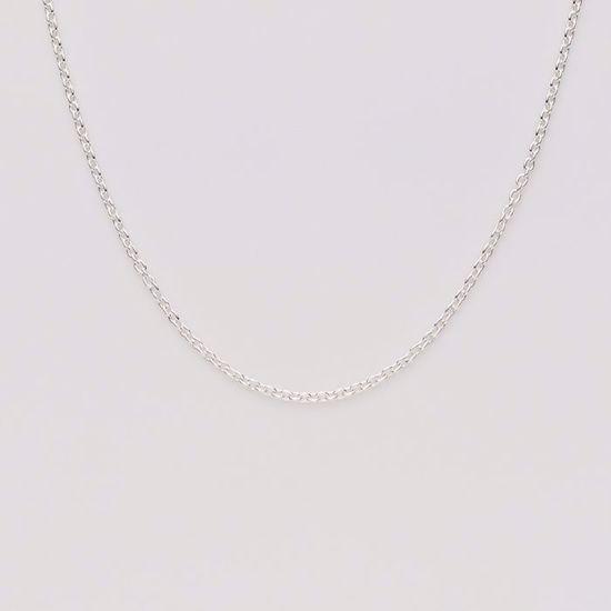 Anker 0,35 sølv kæde