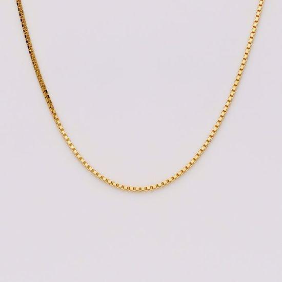 Venezia  1,15 mm sølvforgyldt kæde