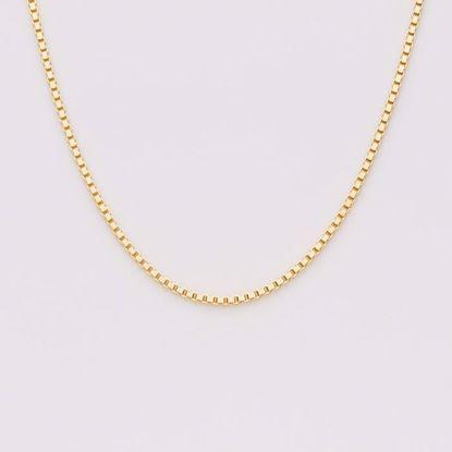 Venezia 1,3 mm sølvforgyldt kæde