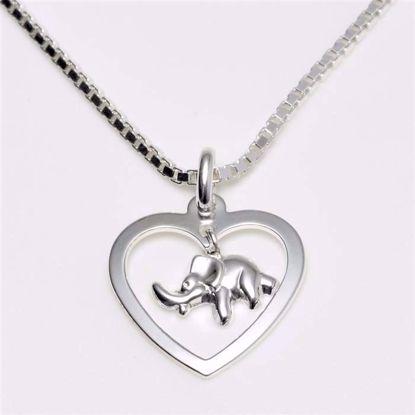 3840-elefant-sølv-børne-halskæde