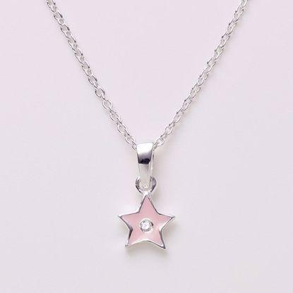 1577/3-sølv-børne-halskæde-lyserød-stjerne
