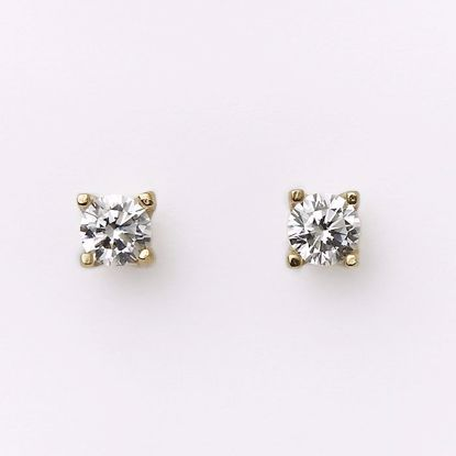 5541/08-guld-zirkonia-ørestikker-øreringe