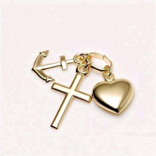 7052/08-Guld-tro-håb-kærlighed-vedhæng