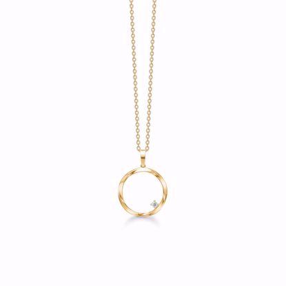 8318/7/08-guld-cirkel-vedhæng-halskæde-zirkonia