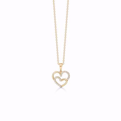 7388/08-guld-dobbelt-hjerte-vedhæng-halskæde