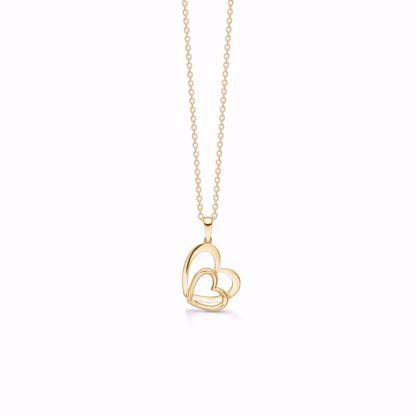 7389/08-guld-dobbelt-hjerte-vedhæng-halskæde