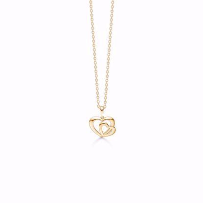 7395/08-guld-dobbelt-hjerte-vedhæng-halskæde