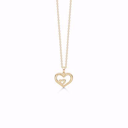 7396/08-guld-dobbelt-hjerte-vedhæng-halskæde