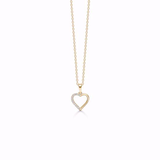 7403/08-guld-hjerte-zirkonia-vedhæng-halskæde