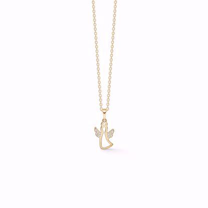 7407/08-guld-engel-vedhæng-halskæde