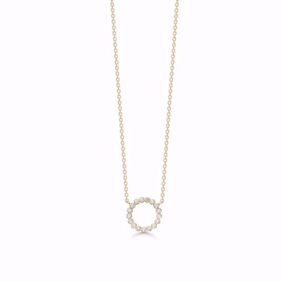 7415/08-guld-zirkonia-cirkel-vedhæng-halskæde