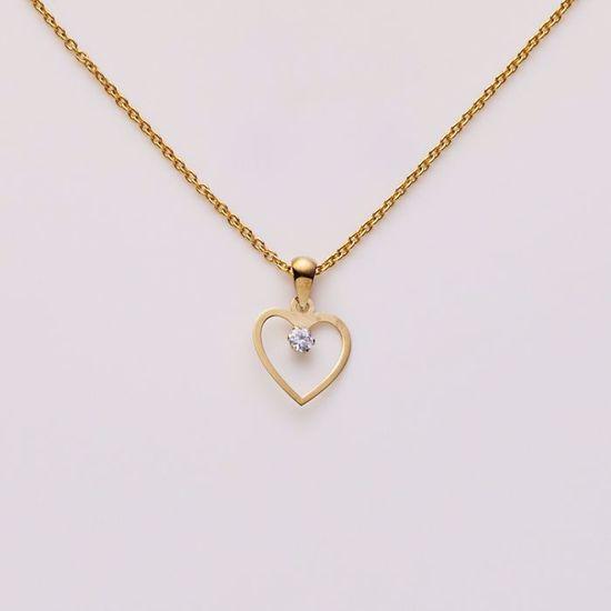 7335/08-guld-hjerte-zirkonia-vedhæng