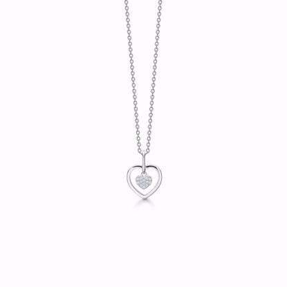 30078-sølv-zirkonia-hjerte-dobbelt-hjerte-halskæde