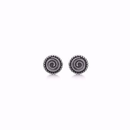 11268-sølv-oxyd-ørestikker-øreringe-retro-antik