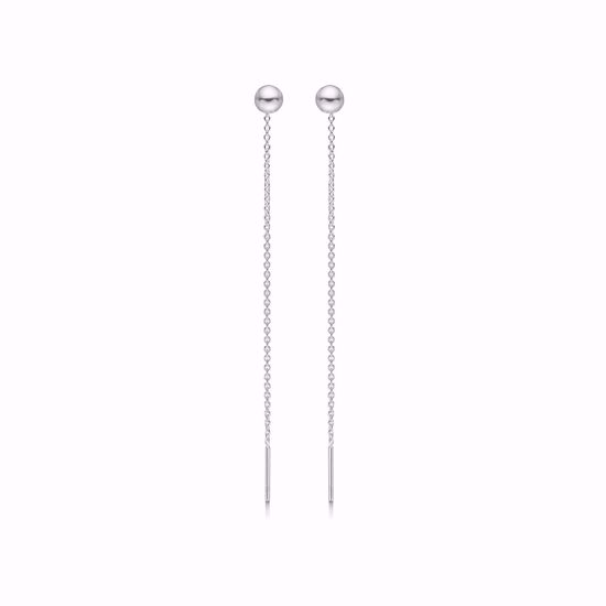 11276-sølvdisco-kugle-ørehængere-træk-igennem