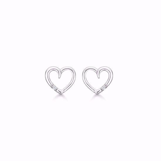 1874/1-sølv-ørestik-ørering-hjerte-med-diamant