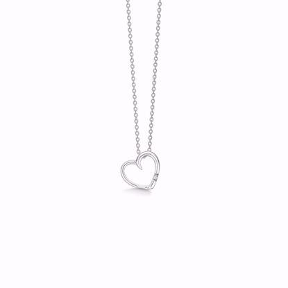 1874/3-sølv-vedhæng-hjerte-med-diamant-halskæde