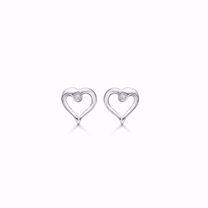 1875/1-sølv-hjerte-diamant-ørestikker-øreringe