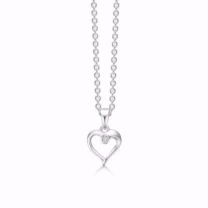 1875/3-sølv-vedhæng-hjerte-med-diamant-halskæde