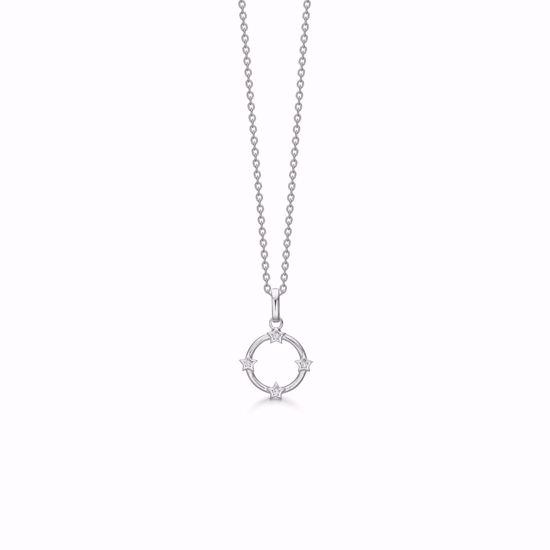 1893/3-sølv-vedhæng-halskæde-cirkel-med-stjerner-zirkonia