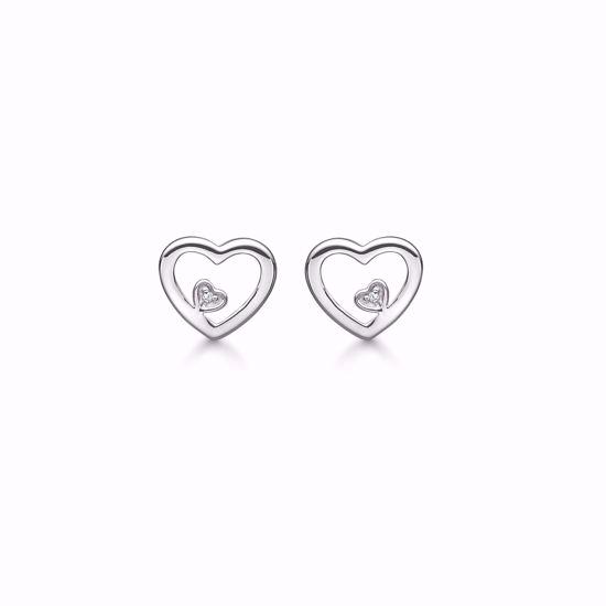 1878/1-sølv-diamant-ørestikker-øreringe-hjerte