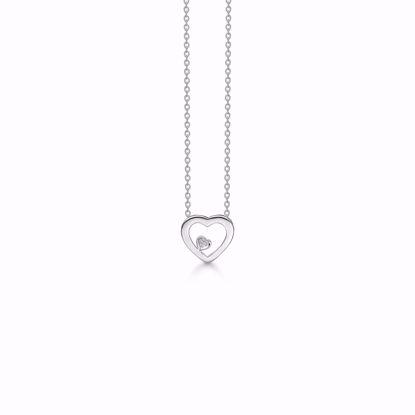 1878/3-sølv-diamant-hjerte-vedhæng-halskæde