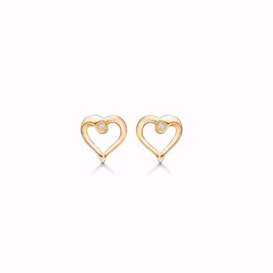 1875/1/F-sølv-forgyldt-diamant-hjerte-ørestik-øreringe