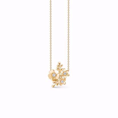 1895/3-sølv-frgyldt-vedhæng-halskæde-med-blomster-og-zirkonia