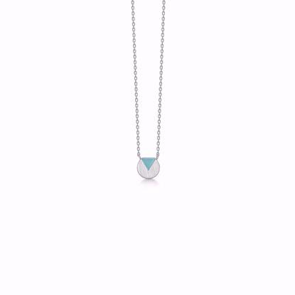1855/3-sølv-vedhæng-halskæde-med-grøn-sten