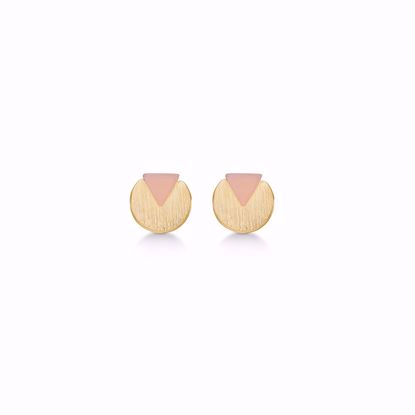 1856/1-sølv-forgyldt-ørestikker-øreringe-med-lyserød-sten