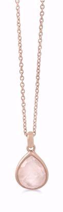 1859/3-sølv-rosa-forgyldt-vedhæng-halskæde-med-rosa-quartz