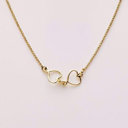 8886/f-sølv-forgyldt-ankelkæde-med-hjerter