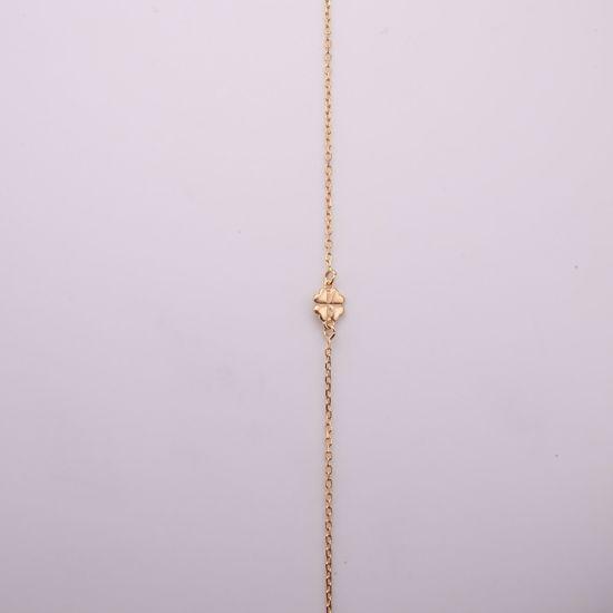 8911/27/f-sølv-forgyldt-ankelkæde-med-firkløver