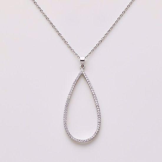 1812/3-sølv-vedhæng-med-zirkonia-dråbe-halskæde