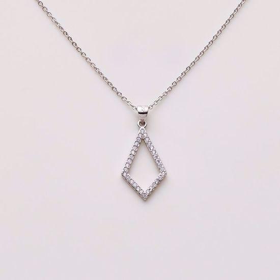 1811/3-sølv-vedhæng-med-zirkonia-halskæde