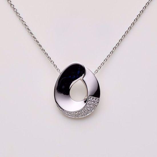 1817/3-sølv-vedhæng-med-zirkonia-halskæde