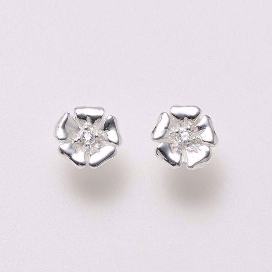 11157-sølv-ørestik-øreringe-blomst-med-zirkonia