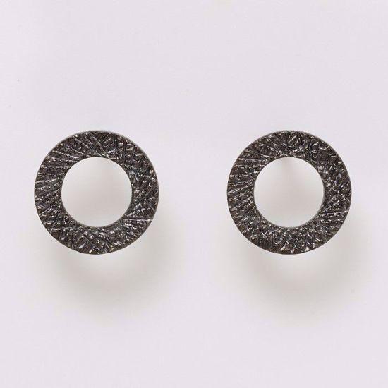 11171/b-sølv-sort-rhodineret-cirkel-øreringe-ørestikker
