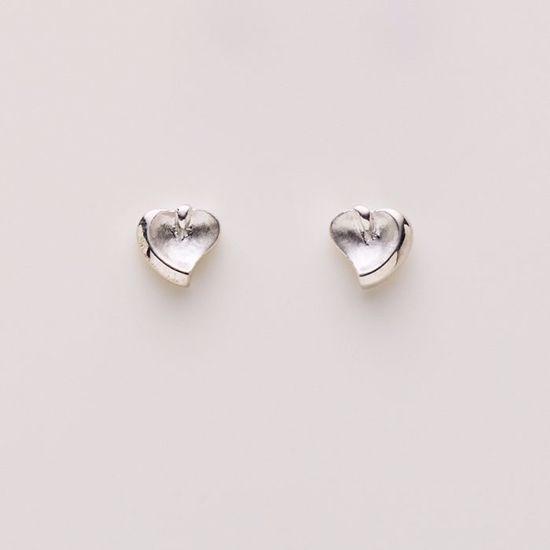 1519/1-sølv-hjerte-øreringe-ørestikker