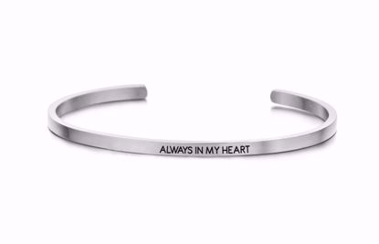 8km-b00052-stål-key-moments-armring-always-in-my-heart