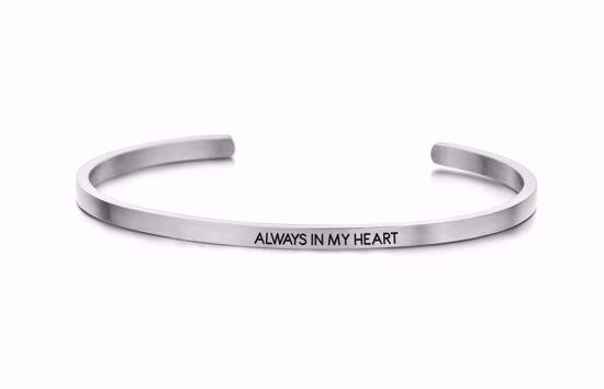 8km-b00052-stål-key-moments-armring-always-in-my-heart