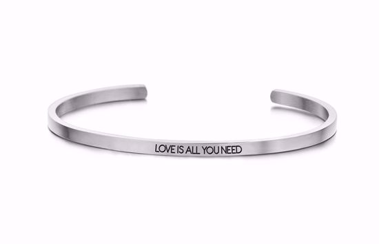 8km-b00451-stål-key-moments-armring-love-is-all-you-need