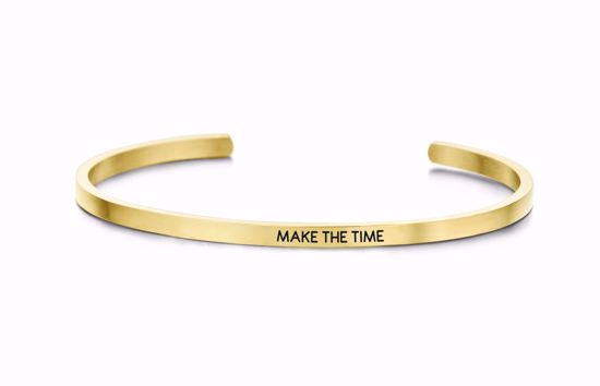 8km-b00101-key-moments-stål-guld-armring-make-the-time